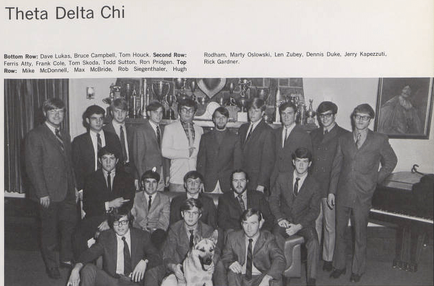 Theta Delta Chi Fraternity Photo: Penn State Archives