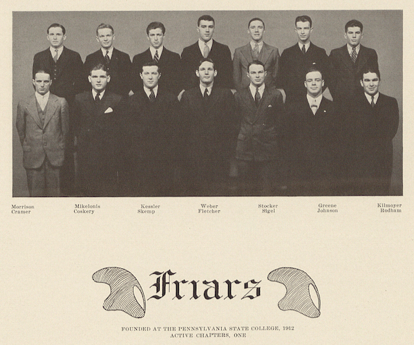 The 1931 Friars Hugh E. Rodham is pictured at the bottom right. Photo: Penn State Archives