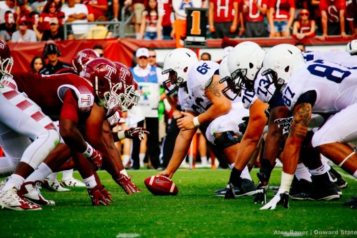 Offensive Line pre snap 2015 Temple