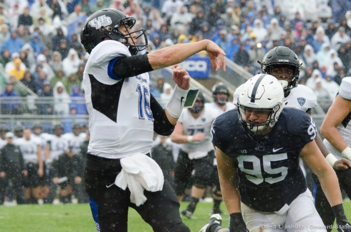 Carl Nassib, again, charges to tackle Licata
