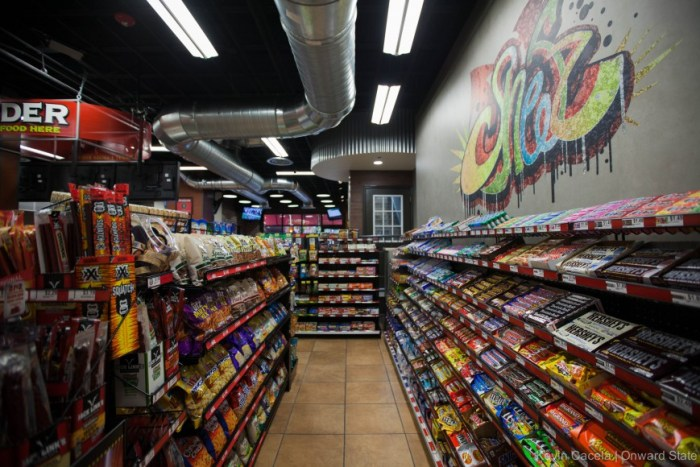 A fully stocked variety of candy to get that sugar fix.