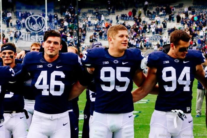 Carl Nassib, Colin Castagna, Evan Schwan Alma Mater Football Illinois 2015