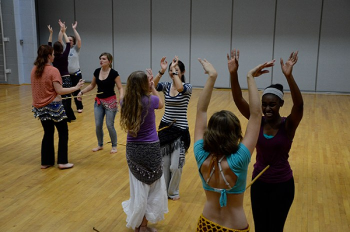 rehearsal belly dance