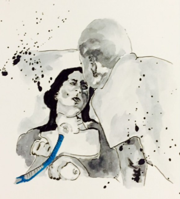 One of Doan's graphic novel illustrations.