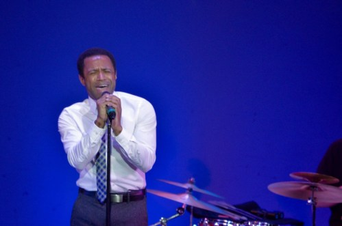 """Alan Wiggins sings """"If I Could Feel"""" at last nights performance. Wiggins was cast in """"The Lion King"""" in 2012"""