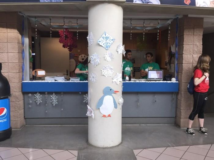 THON donation station 2016 - Winter