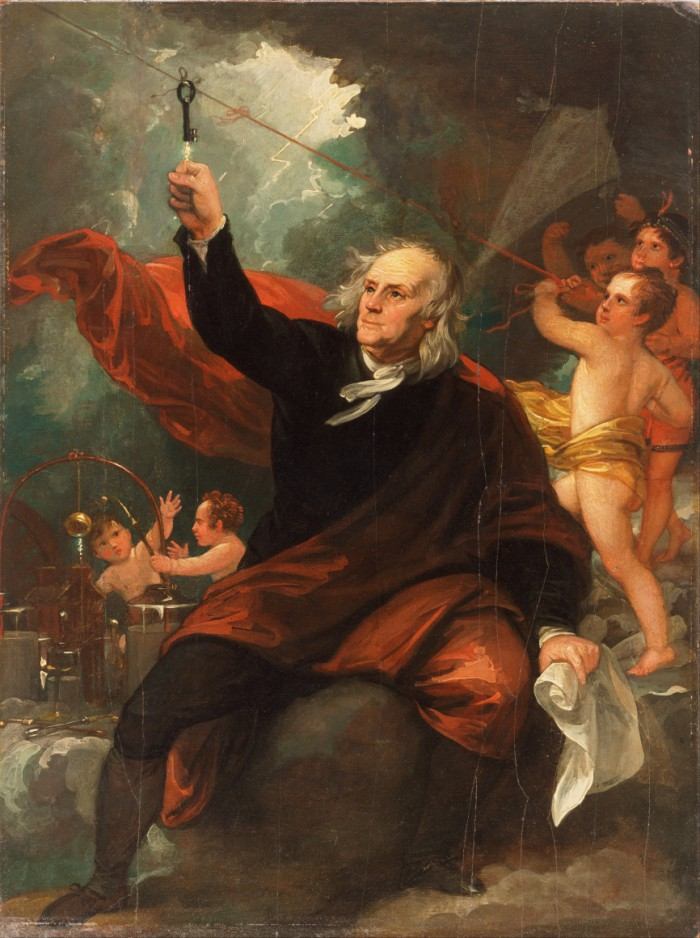 Benjamin_West,_English_(born_America)_-_Benjamin_Franklin_Drawing_Electricity_from_the_Sky_-_Google_Art_Project