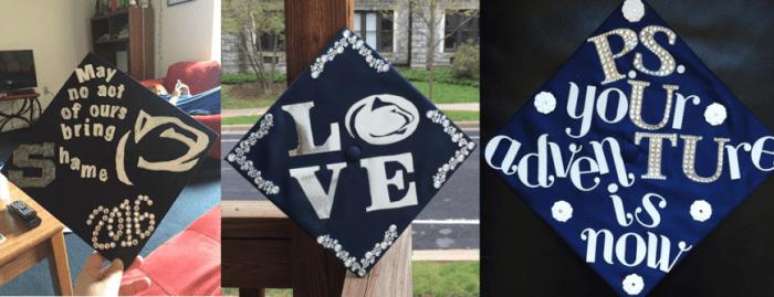 penn state inspired grad caps