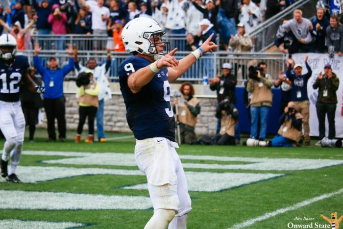 Trace McSorley Penn State Football vs. Maryland 2016