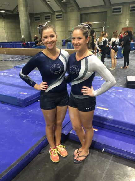 Claire and Jaclyn Levy have been involved in Penn State's Club Gymnastics Team together since their freshman year (Photo: Jaclyn Levy).