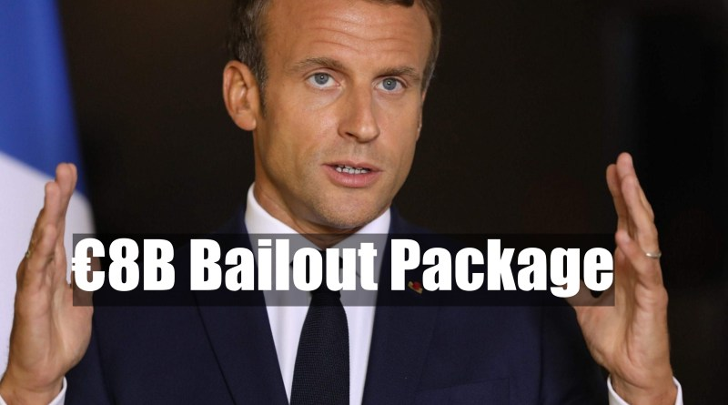 €8B-bailout-package-emmanuel-macron-onwaymechanic.in