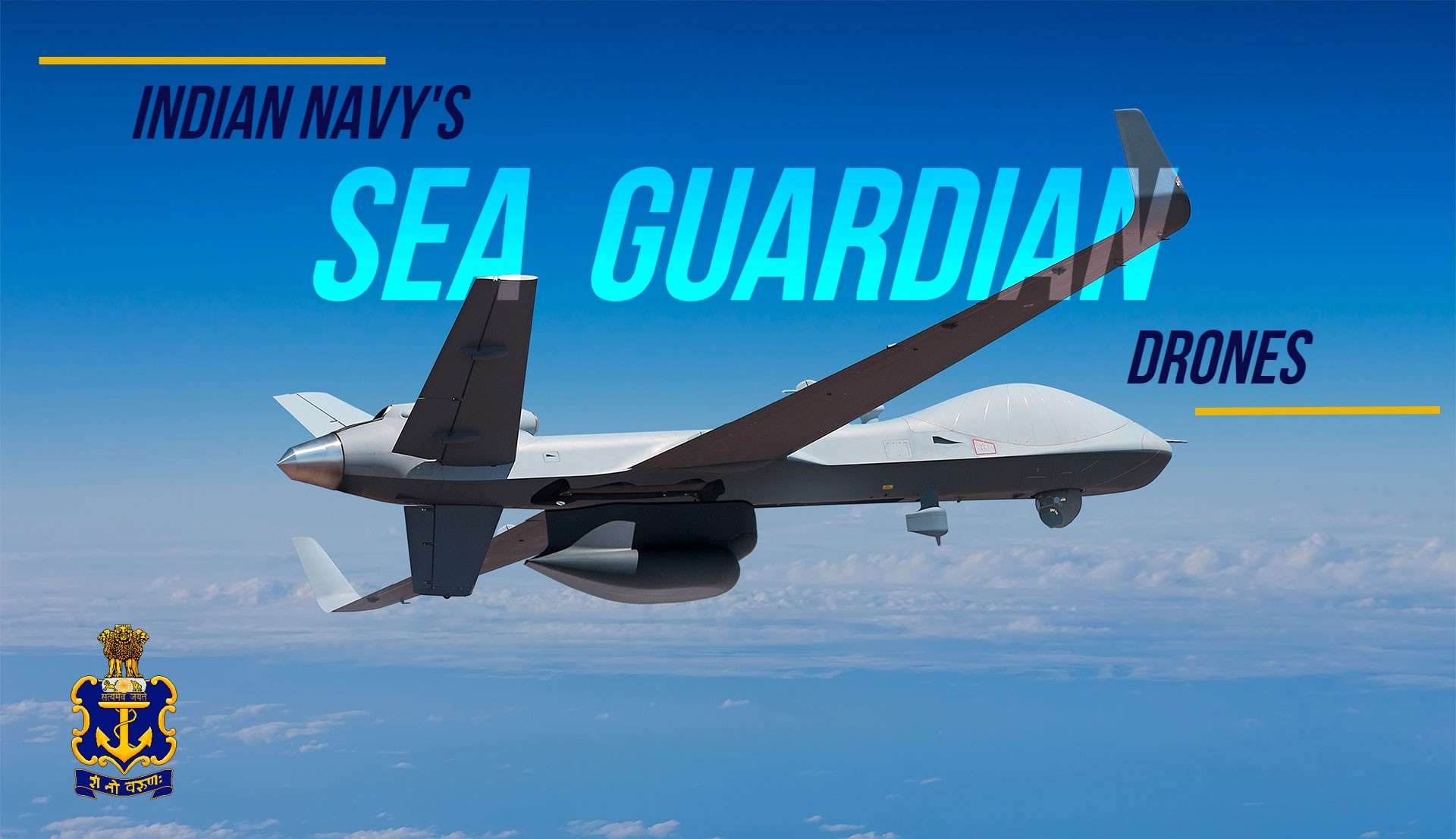 Sea Guardian Drones MQ-9B added to Indian Navy's Arsenal