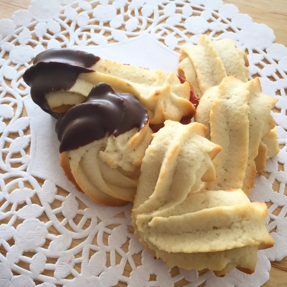 Piped Spritz Cookies - created by On Yi