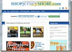 Ocean County New Jersey printable online coupon website featuring restaurant takeout and delivery menus and a Jersey Shore community calendar