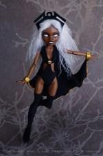MARVEL X-men Storm doll - Monster High repaint