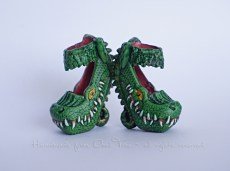 Honey Swamp shoes repainted - no crocodiles were harmed to make these ;-)