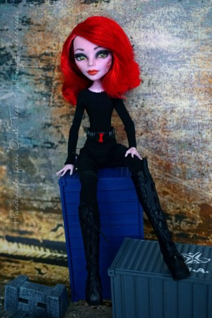 MARVEL's Black Widow - OOAK Monster High doll repaint