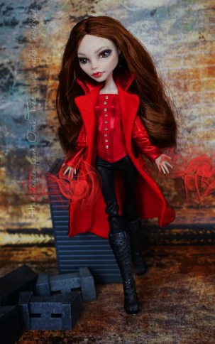 Scarlet Witch OOAK doll - full outfit