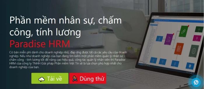 Phần mềm tính lương Paradise HRM