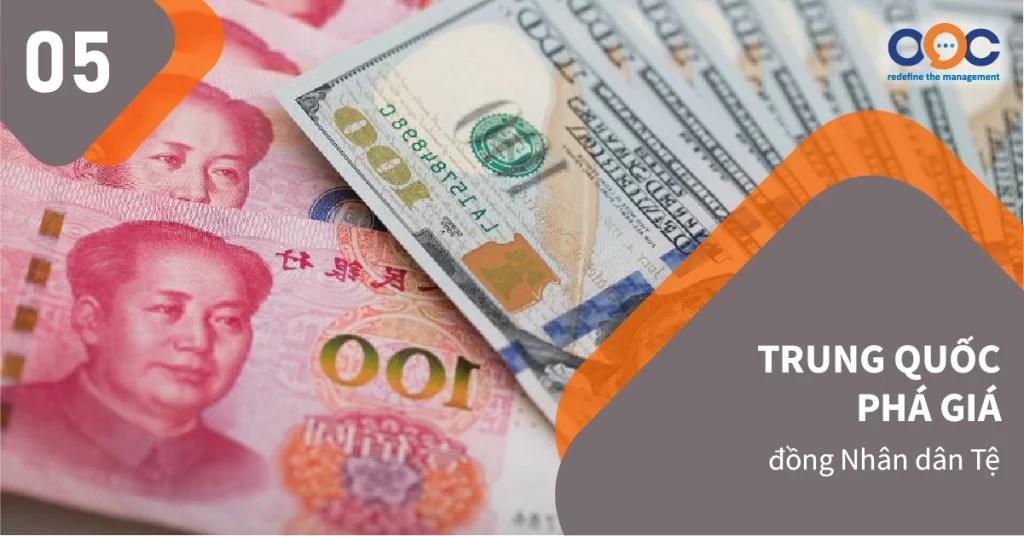Ngày 5/8, đồng nhân dân tệ của Trung Quốc đã bất ngờ giảm mạnh, đánh dấu lần đầu tiên vượt ngưỡng 7 CNY/USD kể từ năm 2009