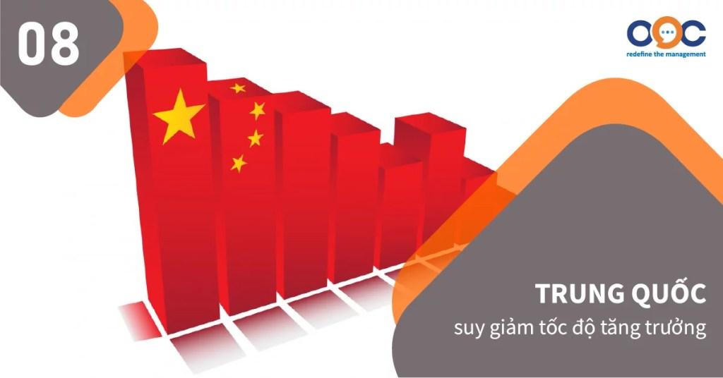 Cuộc chiến thương mại Mỹ - Trung khiến nền kinh tế Trung Quốc, trở lên xấu đi, góp phần đẩy mạnh sự suy thoái của nền kinh tế toàn cầu.