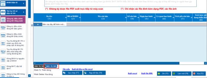 Kê khai BHXH tren phần mềm nhân sự của VNPT