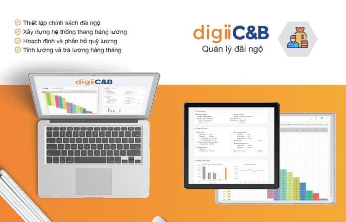 Phần mềm tính lương - Phần mềm quản lý đãi ngộ digiiC&B