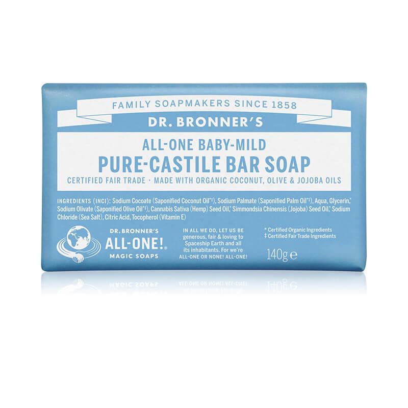 Dr. Bronners Baby-Mild Pure-Castile Bar Soap