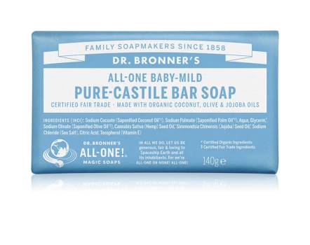 Dr. Bronners Baby-Mild Pure-Castile Bar Soap