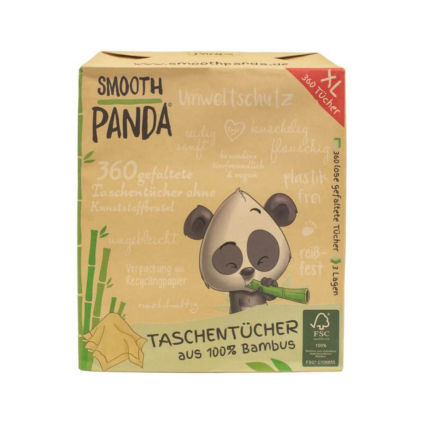 Bamboo tissues, plastic-free, vegan, not bleached