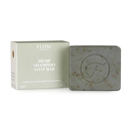 Flow Cosmetics Hennepshampoo Bar tegen roos en hoofdhuidproblemen