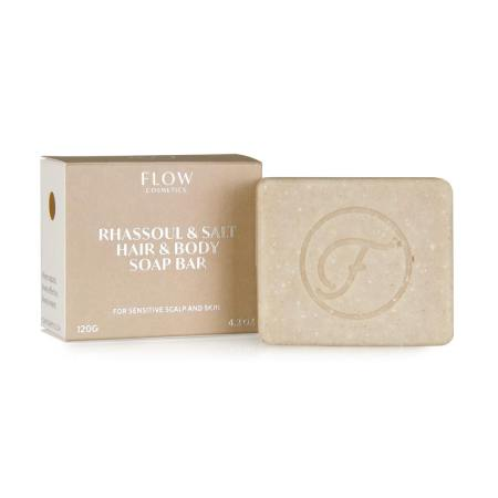 Rhassoul & Salt Hair & Body soap bar for sensitive scalp and skin