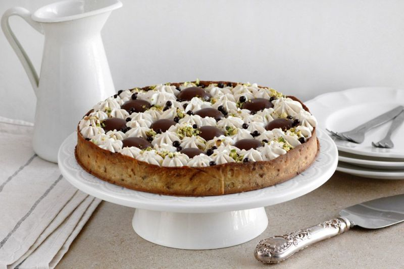 Coffee Tart with Pistachio and Chocolate