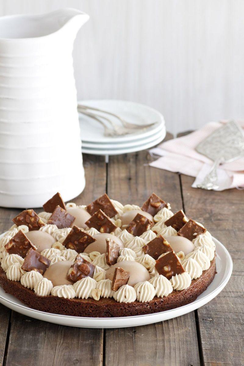 עוגת שוקולד וקפה עם מוס שוקולד חלב