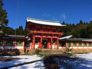 雪の大鳥神社(甲賀市甲賀町)