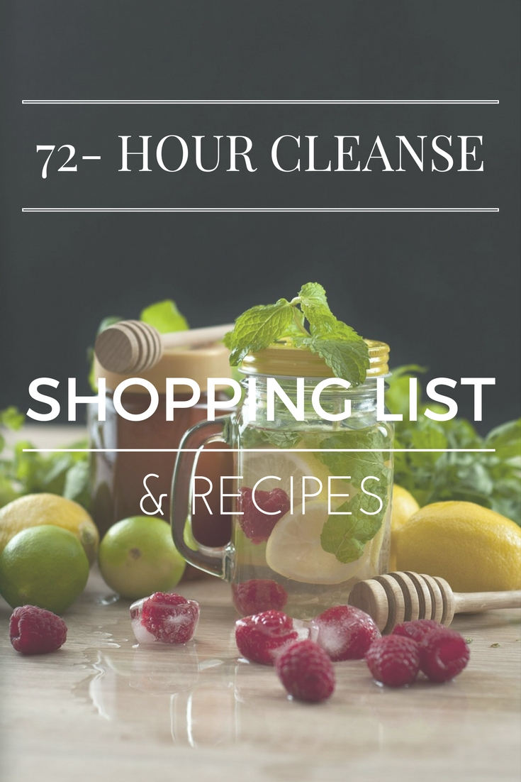 72-HOUR CLEANSE RECIPES