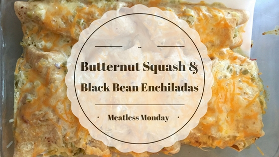 Meatless Butternut Squash and Black Bean Enchiladas