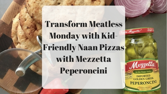 Meatless Monday with Kid-Friendly Naan Pizzas with Mezzetta Peperoncini-2