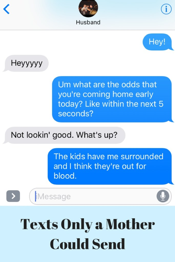 Parenting texts for the win!
