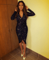 InstaStyle-LaLa- Anthony-Instagram- Givenchy-Black- Confetti-printed- Dress-Christian- Louboutin-White- Pigalle-Pumps-oohlalablog-3