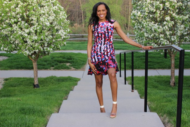 Style-Files-with- PrettyPrice-Peter-Pilotto-Target-Red- Floral-Drop-Waist-Dress-Forever-21-Clear-Platform- Sandals-12