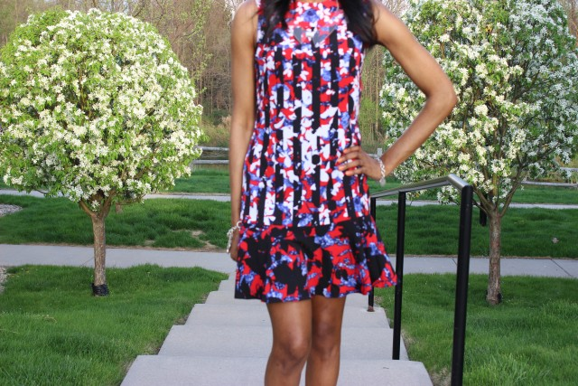 Style-Files-with- PrettyPrice-Peter-Pilotto-Target-Red- Floral-Drop-Waist-Dress-Forever-21-Clear-Platform- Sandals-9
