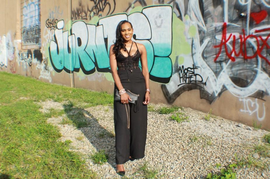 Style-files-Monteau-Green-floral-kimono-Boohoo-Wideleg-pants-zara-pvc-clear-black-pumps-forever21-lace-corset-bodysuit-ooohlalablog-13
