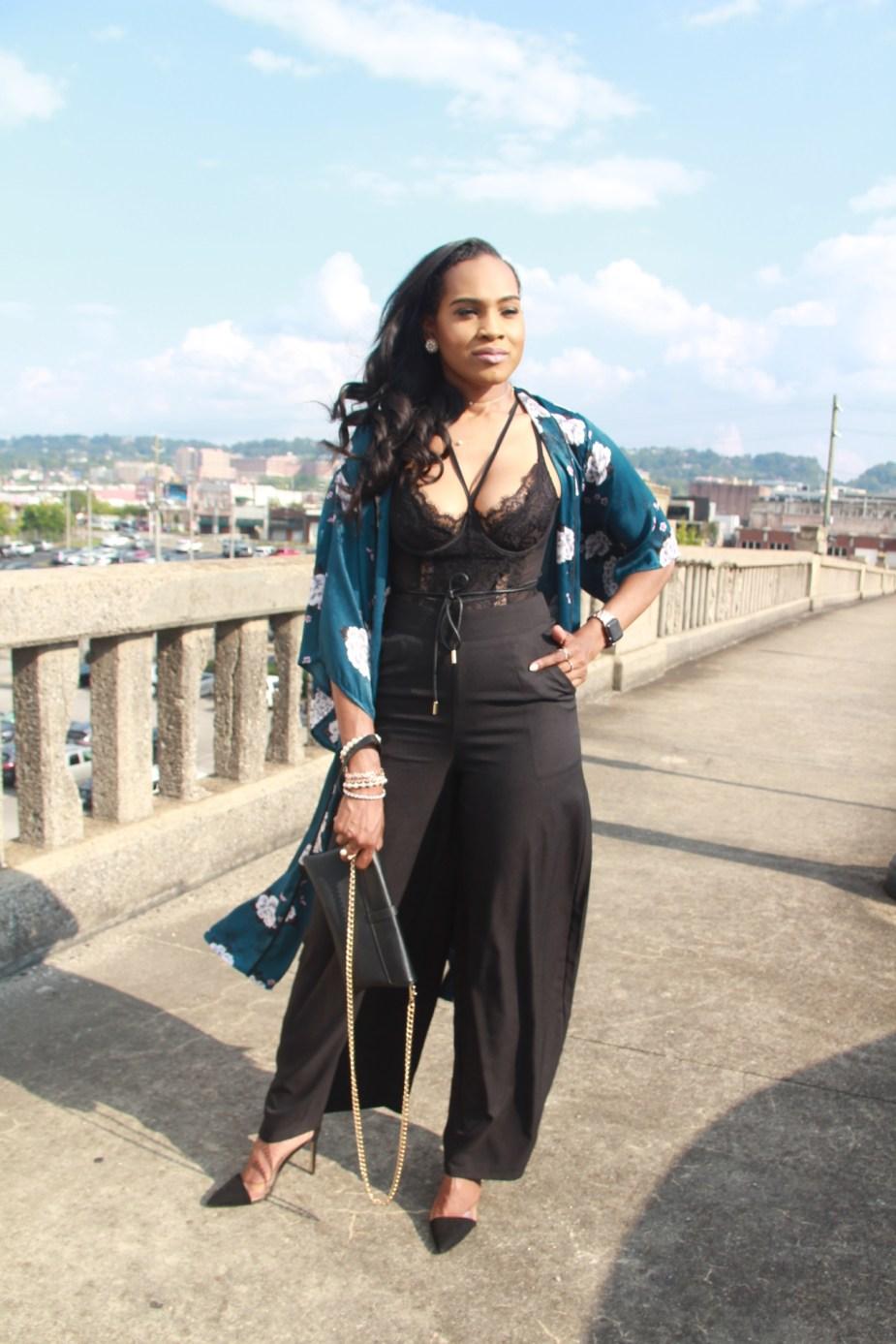 Style-files-Monteau-Green-floral-kimono-Boohoo-Wideleg-pants-zara-pvc-clear-black-pumps-forever21-lace-corset-bodysuit-ooohlalablog-3