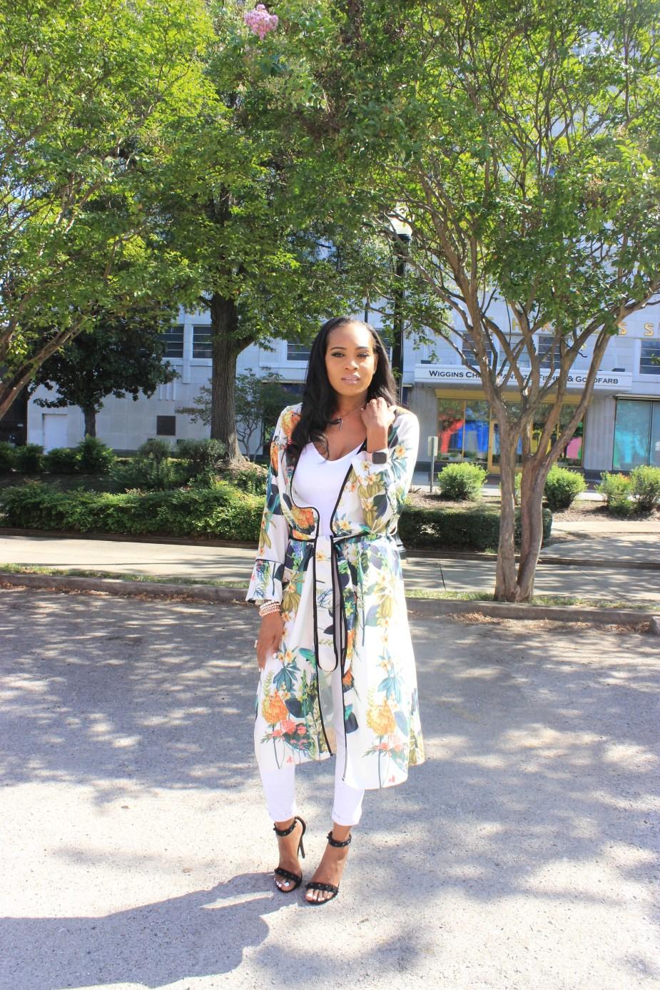 Style-files-White-Civil-Skinny-Jeans-forever-21-white-bodysuit-shein-white-floral-Open Front Longline Kimono -Cape-Ribbon-black-Meg Ankle Strap Beaded Heel-Cape-Ribbon-studded-ankle-strap-sandals-oohlalablog-3