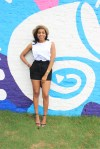 style-files-Michael kors white ruffle sleeveless top-HM-tie-front-black-shorts-amazon- polka -dot straw-hat-justfab-black-ankle-strap-sandals-birmingham-top-bloggers-oohlalablog-9