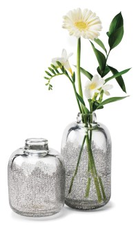 Engraved glass bottles $250 to $300 by Becky Lauzon
