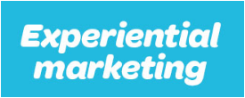 experiential marketing title in blue