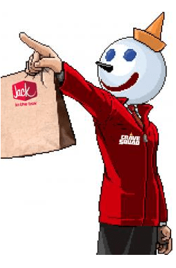jack in the box standing bag