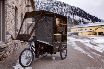 ups pedicab snow